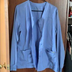 Grey anatomy ceil blue scrub jacket